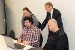 Axel Wigforss, Ali Reunanen (sitter), Susanne Henriksson, Åke Marcusson