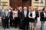 Utanför Sveriges ambassad i Sarajevo