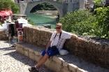 Robert Lychou på besök i Mostar