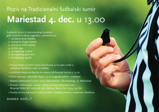 Poziv na Tradicionalni fudbalski turnir u Mariestadu