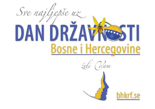Čestitka povodom Dan državnosti Bosne i Hercegovine