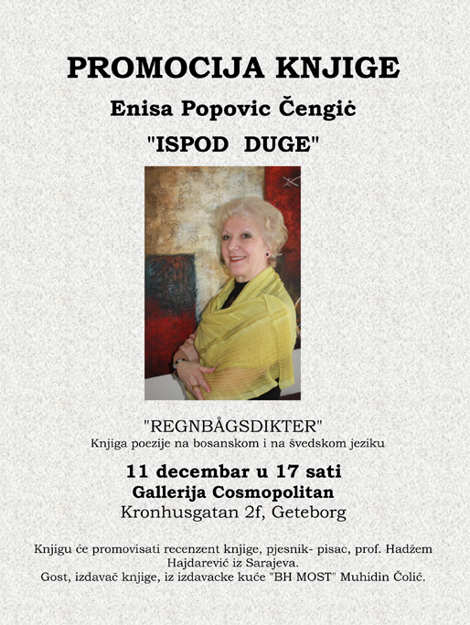 """Presentation av boken """"Regnbågsdikter"""" av Enisa Popović Čengić"""