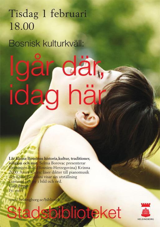 """Jučer tamo, danas ovdje"", bosanskohercegovačka kulturna večer u Helsingborgu"