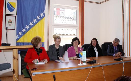 Sonja Prvulović, Maja Radić, Emina Ćejvan, Lejla Sijerčić och dr Mehmed Avdagić