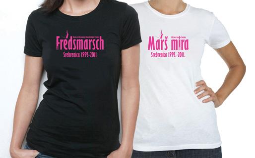 T-tröjor – Fredsmarsch Srebrenica 1995–2011 (förstora bilden)