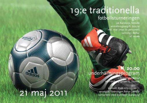 """Den 19:e traditionella fotbollsturneringen av """"Behar"""" Skövde"""