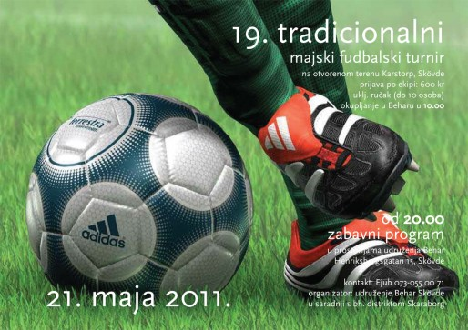 """19. tradicionalni majski fudbalski turnir udruženja """"Behar"""" Skövde"""