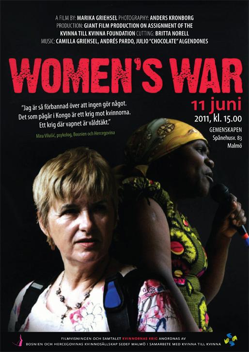Filmvisningen och samtalet: Kvinnornas krig