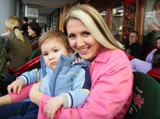 Nejra Kurić med sonen Mak