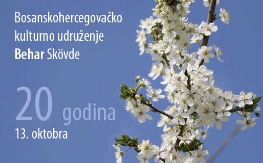"""Bosanskohercegovačko kulturno udruženje """"Behar"""" Skövde, 13. oktobra – 20 godina"""