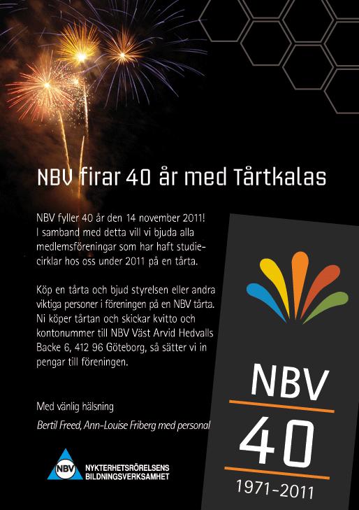 NBV firar 40 år med Tårtkalas!