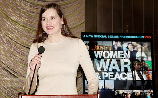 "Geena Davis, ""Women, War & Peace"""