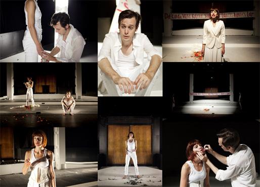"""Teatergruppen """"Konfront"""" i föreställningen """"Lucretia"""""""
