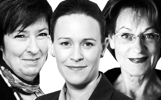 Mona Sahlin, Maria Wetterstrand och Gudrun Schyman