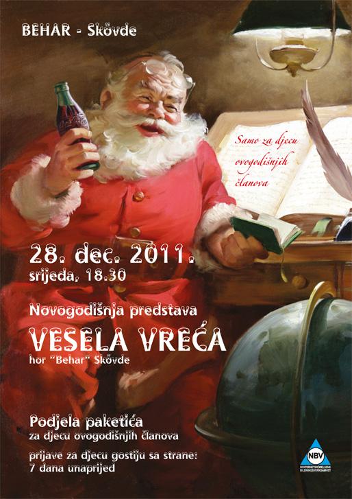 """Novogodišnja predstava """"Vesela vreća"""" i podjela paketića za djecu"""