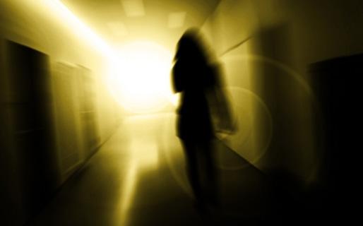 Kvinna i tunneln