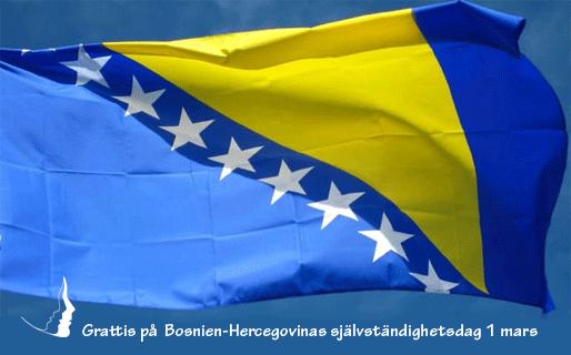 Grattis på Bosnien-Hercegovinas självständighetsdag 1 mars