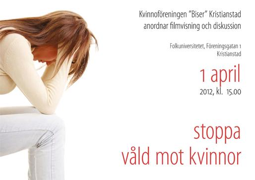 Stoppa våld mot kvinnor