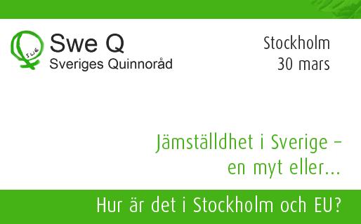 Jämställdhet i Sverige – en myt eller… Hur är det i Stockholm och EU?