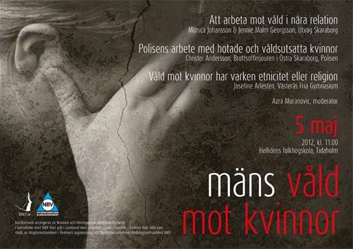 Konferensen Mäns våld mot kvinnor