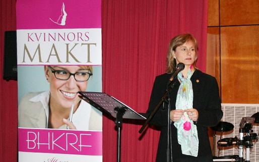 """Annicka Engblom (parlament Švedske) na našoj konferenciji """"Žene i moć"""" (vanjski link)"""