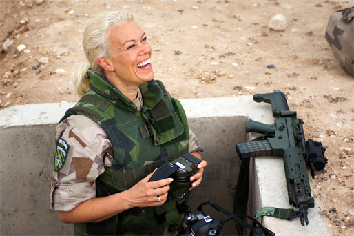 Monica Larsson (Foto: Erik Berglund/Försvarsmakten)