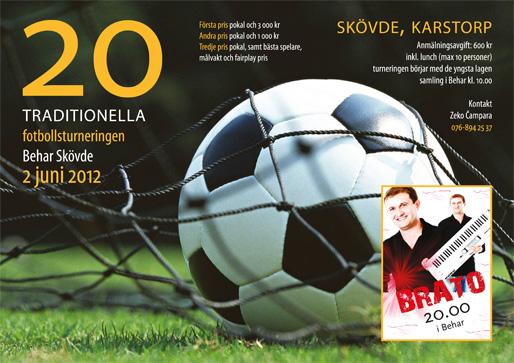 """Den 20:e traditionella fotbollsturneringen av """"Behar"""" Skövde"""