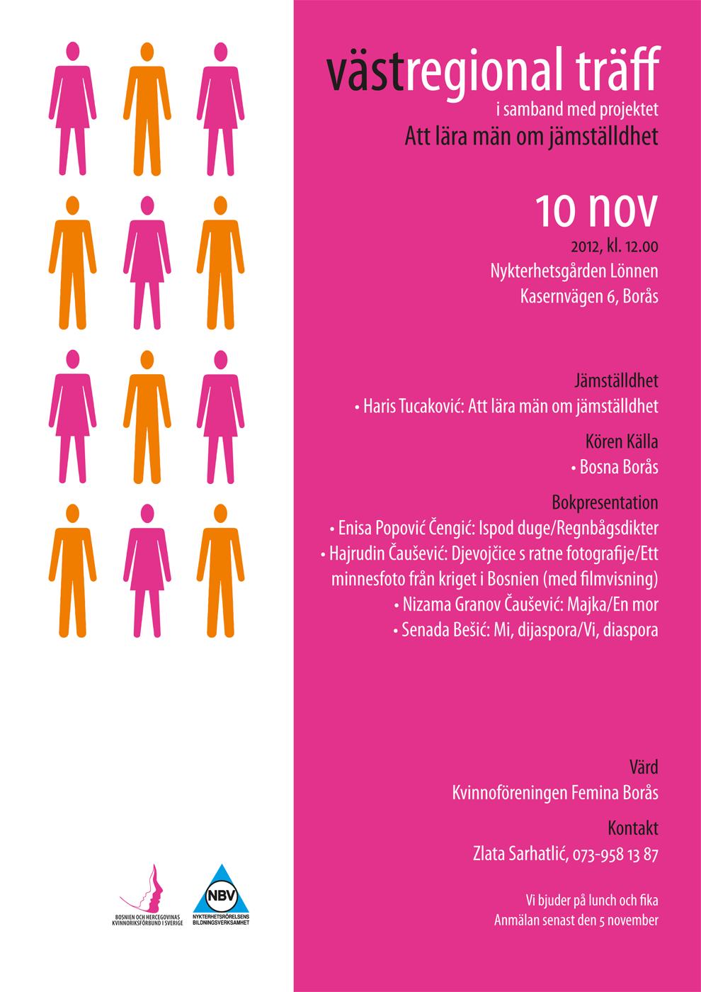 Västregional träff i samband med projektet Att lära män om jämställdhet