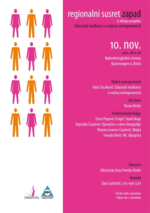 Tradicionalni susret regije Zapad u sklopu projekta Educirati muškarce o rodnoj ravnopravnosti