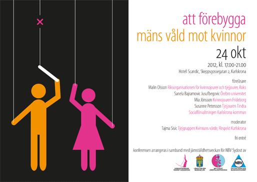 """Konferensen """"Att förebygga mäns våld mot kvinnor"""""""