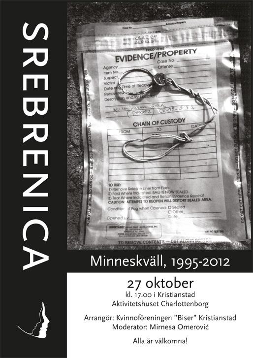 Srebrenica minneskväll, 1995–2012 (Foto: Tarik Samarah, 2004)