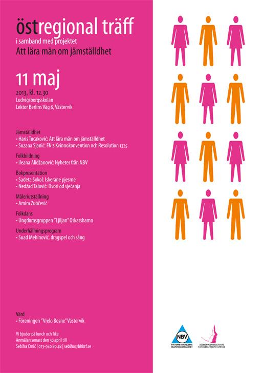 Östregional träff i samband med projektet Att lära män om jämställdhet