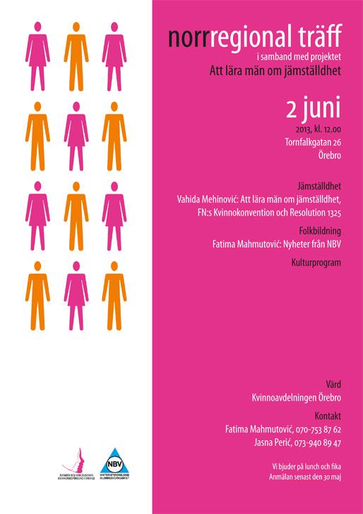Norr-regional träff i samband med projektet Att lära män om jämställdhet
