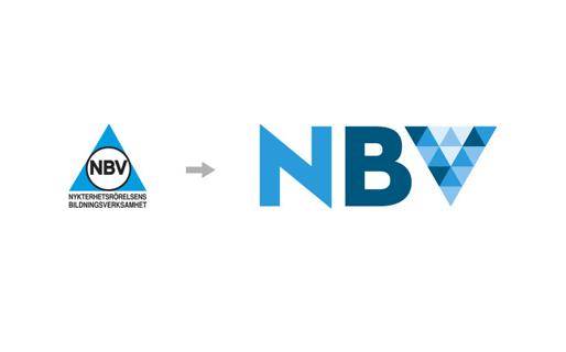 NBV:s gamla och nya logotyp