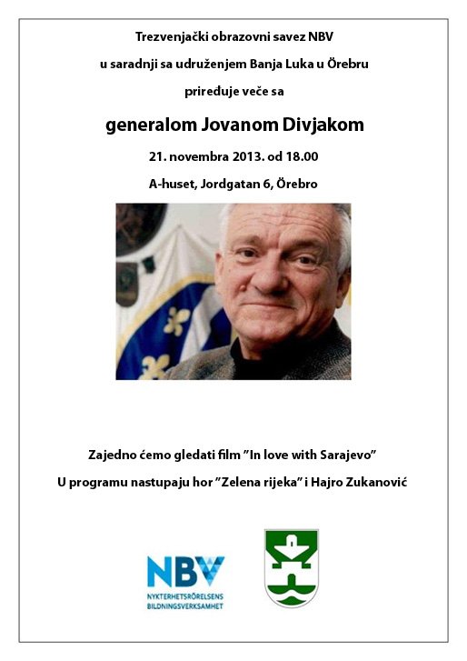 Veče sa generalom Jovanom Divjakom