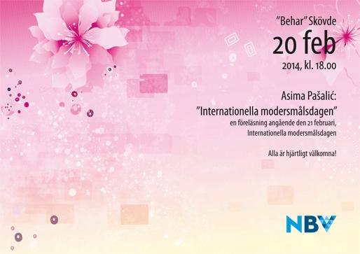 Program i samband med Internationella modersmålsdagen
