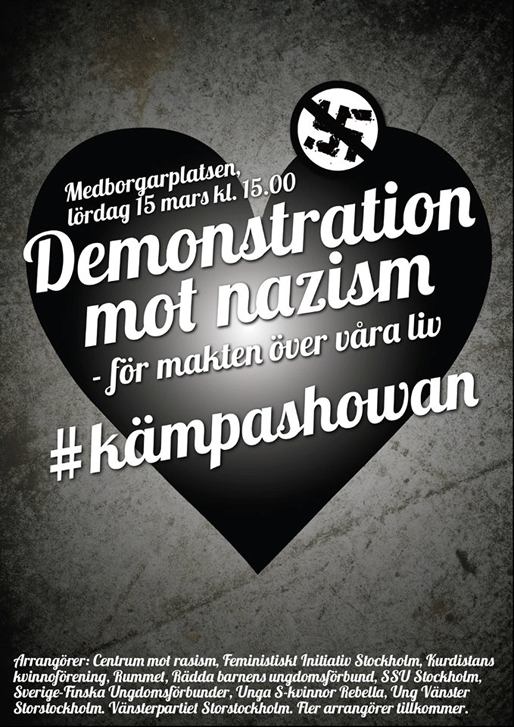 Demonstration mot nazism