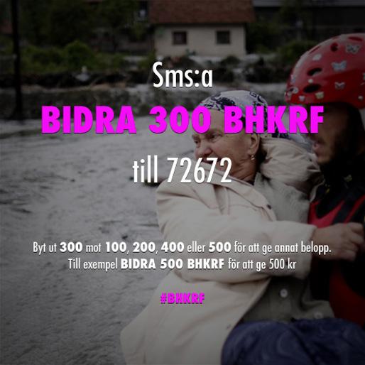 Stöd BHKRF:s insamling för de behövande i Bosnien och Hercegovina