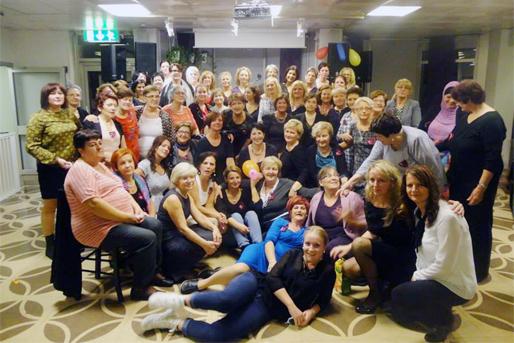 """Kvinnoföreningen """"Biser"""" Kristianstad med gäster från andra kvinnoföreningar"""