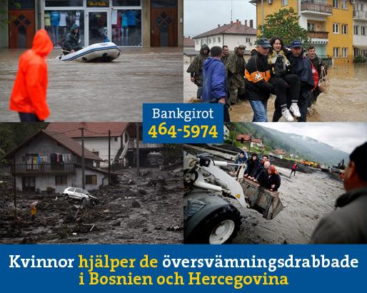Kvinnor hjälper de översvämningsdrabbade i Bosnien och Hercegovina