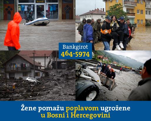 Žene pomažu poplavom ugrožene u Bosni i Hercegovini