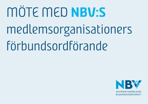 Möte med NBV:s medlemsorganisationers förbundsordförande