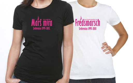 T-tröjor – Fredsmarsch Srebrenica 1995–2015