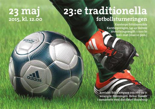 Den 23:e traditionella fotbollsturneringen i Skövde