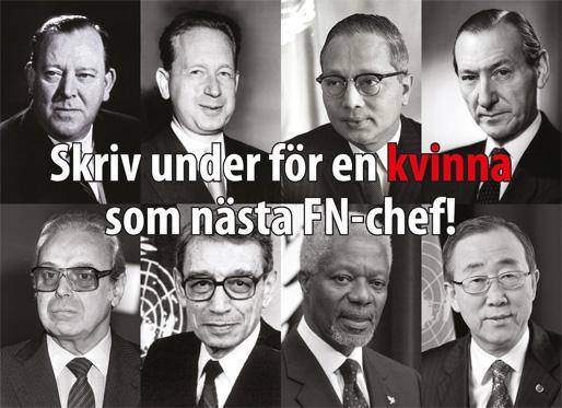 Skriv under för en kvinna som nästa FN-chef!