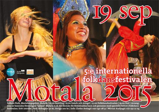 Den 5:e internationella folkdansfestivalen i Motala