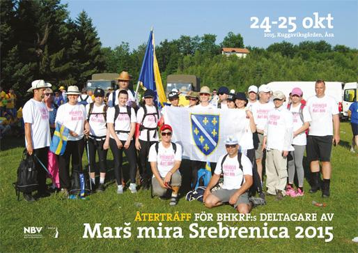 Återträff för BHKRF:s deltagare av Marš mira Srebrenica 2015