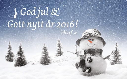God jul och Gott nytt år 2016!