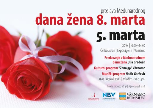 Proslava Međunarodnog dana žena u Värnamu