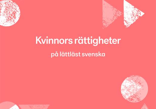 Kvinnokonventionen på lättläst svenska